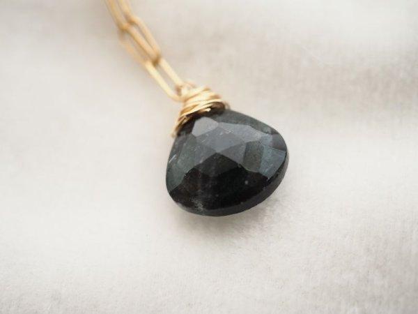 画像1: ブラックモスアクアマリンのネックレス (1)